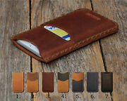 Personalized Leather Case For Samsung Galaxy. Pouch Wallet With Card Pocket
