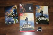 New Legend Of Zelda Breath Of The Wild Special Edition Switch Game With Promos