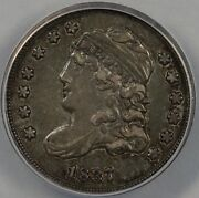 1837 H10c 5c Capped Bust Half Dime Anacs Xf 40
