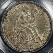 1888 10c Liberty Seated Dime Pcgs Ms 63