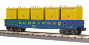 Mth Railking O Trains Delaware And Hudson Gondola Car W' Lcl Containers 30-72145