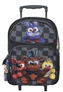Five Nights At Freddyand039s Large School 16 Inches Trolley Rolling Backpack - New