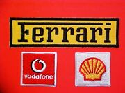 Ferrari Formula 1 Racing Uniform Patches Shell Vodafone Vintage Small Patches Oe