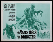 The Beach Girls And The Monster Surf Horror Best Creature 1965 Lobby Card 5