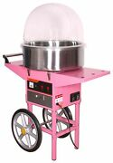 Cotton Candy Floss Maker Machine/cover With Cart Next Working Day Delivery New