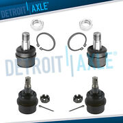 4pc Front Upper And Lower Ball Joint For 1994-1997 1998 1999 Dodge Ram 1500 4x4