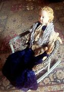 1800s Doll Ludwig Greiner 32 Paper Mache Large Doll Blond Blue Glass Eyes Rare