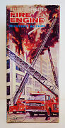 S. H. Japan About 1960 Fire Engine Ladder Truck -- Box Only -- 14-3/8 Long