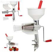 Food Strainer Electric Motor Drive Tomato Sauce Maker Stainless Steel Mesh