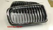 Mit Chromed Front And Black Rear Front Kidney Grille Bmw E38 7 Series 1995-2001