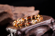 Natural Citrine Quartz Crystal Marquise Beads Wealthy Bracelet 812mm Aaaa