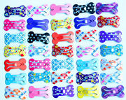 20x Mini Bones Pet Dog Hair Bows With Clips Small Dog Bows Dog Grooming Products