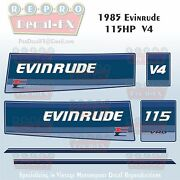 1985 Evinrude 115 Hp V4 Outboard Reproduction 6 Pc Marine Vinyl Decals 115tlco