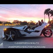 Polaris Slingshot Rims Custom Wheels Two 20and039and039 Wheels One 22and039and039 Wheel And Tires