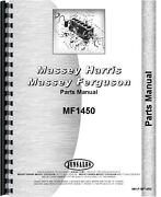 Massey Ferguson 1450 Lawn And Garden Tractor Parts Manual Mh-p-mf1450