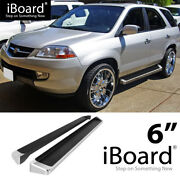 Running Board Style Side Step 6in Silver Fit Honda Pilot Acura Mdx 03-08