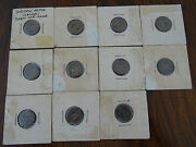 Eleven 11 Griffin Motor Coaches Bus Transit Tokens Good For One Fare