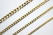 14k Solid Yellow Gold Cuban Link Chain Necklace Bracelet 2mm 4.5mm / 7 30