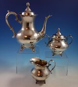 Tara By Reed And Barton Sterling Silver Coffee Set 3pc 820 1502