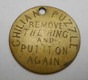 Chilian Puzzle Remove The Ring And Put It On Again Token