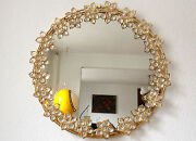 Large And Luxurious Modernist Palwa Germany Wall Mirror Crystal Glass Gilt Brass