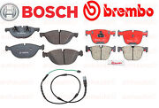 Bmw E71 X6 Xdrive50i Front And Rear Brake Pads+front Wear Sensor Bosch+brembo New