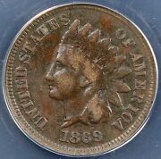 1869 1c Indian Cent Anacs F 12 Details Corroded