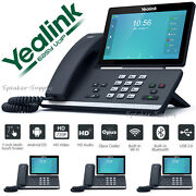 4 Pack Yealink Sip-t58a Hd Android Ip 16-line Poe Ip Phone Smart Bluetooth Wifi