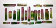 330 Cts Amazing Collection Of Super Gemmy Multicolor Tourmaline Crystal 23 Pcs