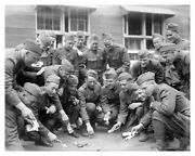 Wwi 42nd Infantry Division Soldiers Playing Craps Silver Halide Photo