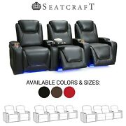 Seatcraft Equinox Leather Home Theater Seating Recliners Seat Chair Couch