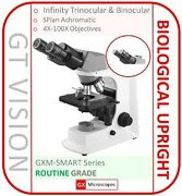 Biological Microscope 40x-1600x Led Fn20 Wf Eyepieces Uk Stock And Uk Support