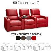 Seatcraft Millenia Leather Home Theater Seating Recliners Seat Chair Couch