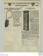1924 Paper Ad Gas Gasoline Station Air Water Pump Colfax Reel Romort