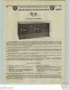 1924 Paper Ad 2 Sided Grebe Radio Receiver Sets Type Cr9 Supreme