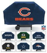 Nfl 68 Inch Vinyl Economy Gas Or Charcoal Grill Cover -select- Team Below