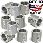 10 Clamp On 6 Bolt Steel Fabrication Clamp 1.875 Roll Bars Cages Tubing Weld On