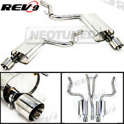 Rev9 Catback Exhaust 4 Dual Tip+y Pipe For Mustang 2.3l Ecoboost Turbo 2015-20