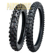 Front And Rear Max Motosports Tires 80/100-21 And 110/90-19