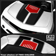 Chevrolet Camaro 2010-2015 Hood And Trunk Stripes W/ Center Insert Choose Colors