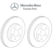 For Mercedes W205 C63 Amg S R231 Sl63 Pair Set Of 2 Front Brake Discs Rotors Oe