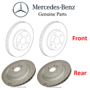 For Mercedes W205 R231 Pair Set Of 2 Front And Rear Brake Disc Rotors Kit Oes