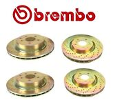 For Brake Disc Set Cross Drilled Front And Rear Brembo For Infiniti G35 Nissan