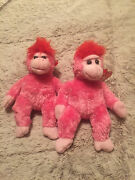Extremely Raresmiling Ty Beanie Baby Charmer Pink Gorilla W/face And Tag Error