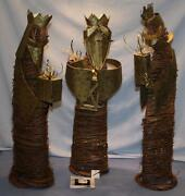 Southern Living Grapevine 3 Pc Set Wise Men Nativity Christmas Decoration Nwt