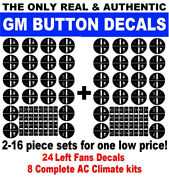 2007-2013 Gm Button Decals Stickers Climate Control A/c Radio Chevrolet Gmc 32 P