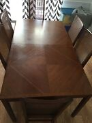 Antique Stanley Furniture Dining Room Table And Six High Back Chairs