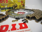 Suzuki Gsxr1000 2009-16 Did Extended Length Gold Chain And Sprockets Kit