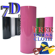 6ft X 5ft 7d Pink Glossy Carbon Fiber Vinyl Wrap Sheet With Air Release