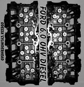 New 2 Ford 6.0 Turbo Diesel F350 Truck Cylinder Heads 18mm Cast080 Only No Core